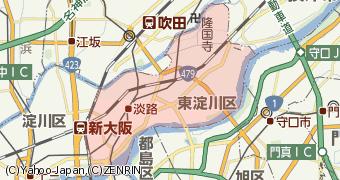 東淀川区地図