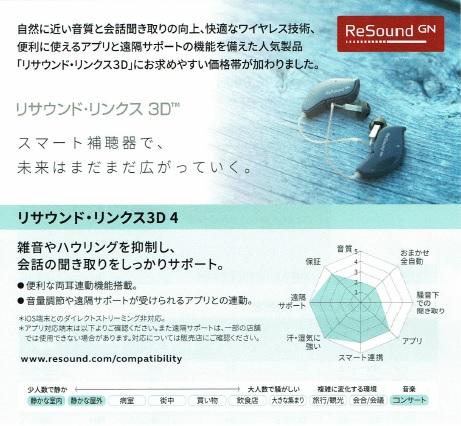 リサウンド・リンクス3D 4クラス